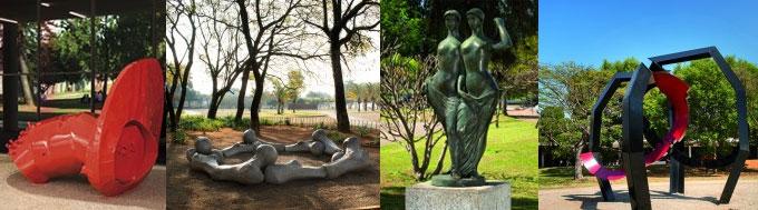 Jardim de Esculturas no Ibirapuera
