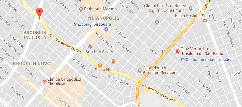 Mapa Avenida dos Bandeirantes